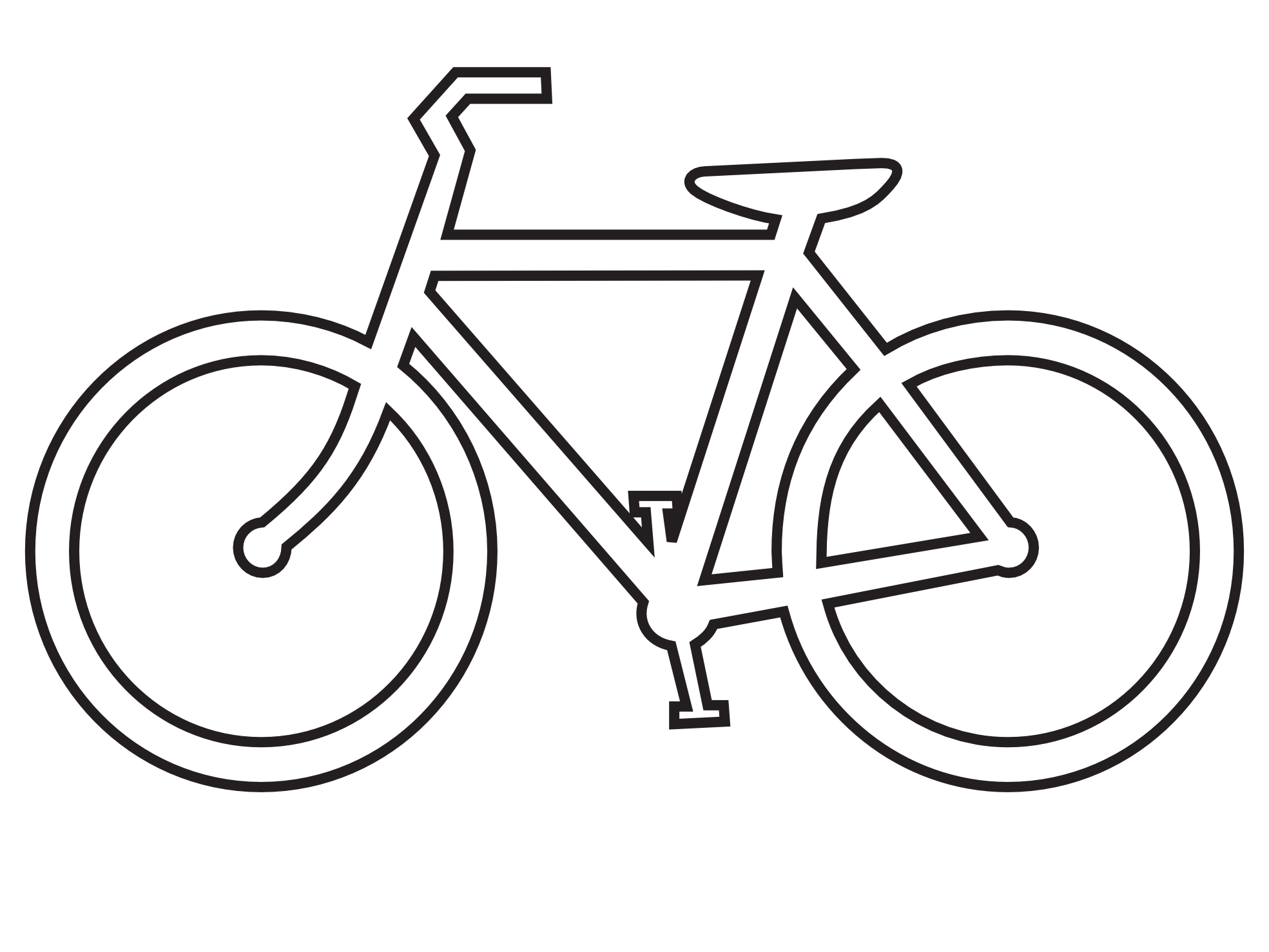clip art bicycle route