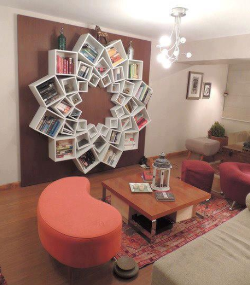 Creative book shelf repinned by #smgdesignselect #smgdesignshop