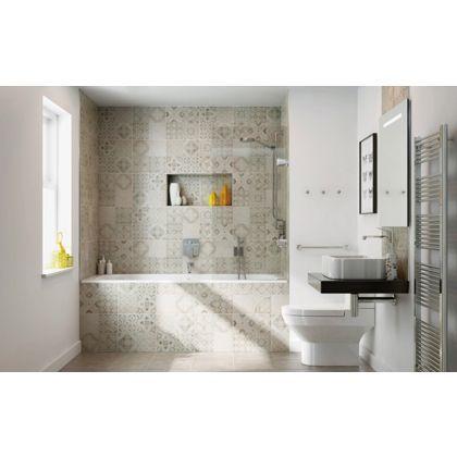 Bathroom Tiles Homebase atlas patchwork glazed ceramic wall & floor tiles - a modern take