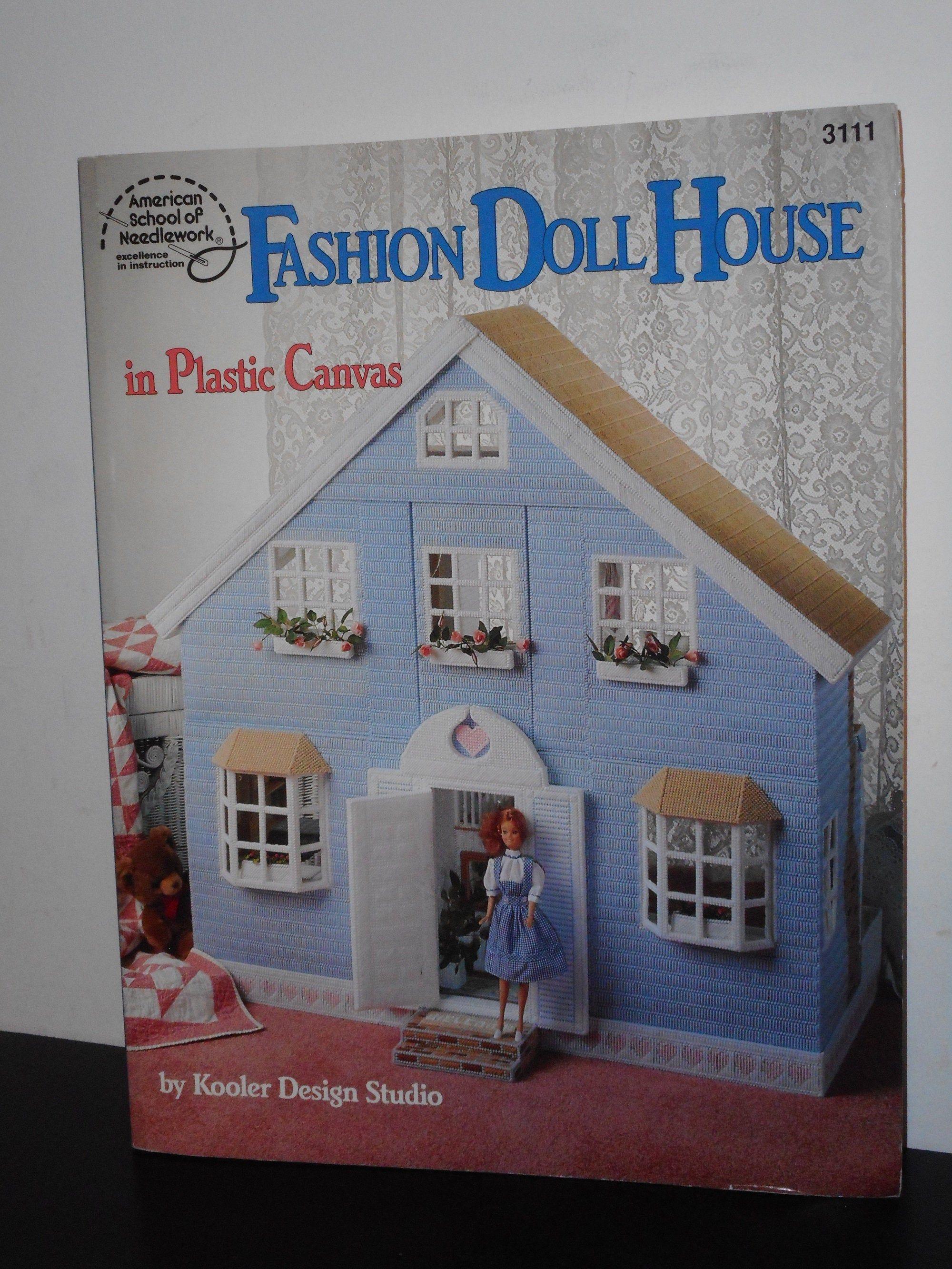 Fashion Doll House In Plastic Canvas American School Of Needlework Kooler Design Studio In 2020 Fashion Designer Studio Design Studio Design