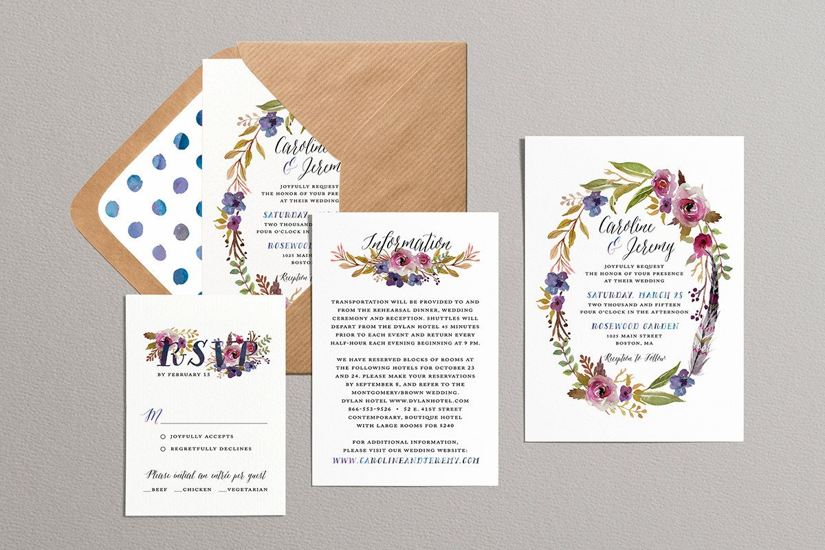 This Invitation Suite Is So Gorgeous Printable Wedding Invitation
