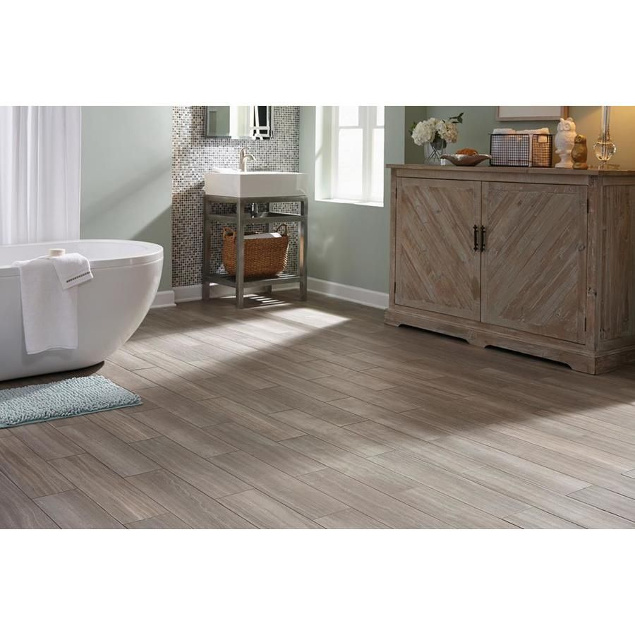 Stainmaster Stainmaster 1 Piece 6 In X 24 In Groutable Chateau Peel And Stick Luxury Vinyl Tile Luxury Vinyl Tile Vinyl Tile Vinyl Flooring Bathroom