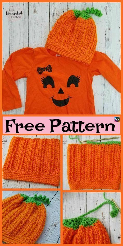 8 Cutest Crochet Pumpkin Hat Free Patterns Crochet Hats