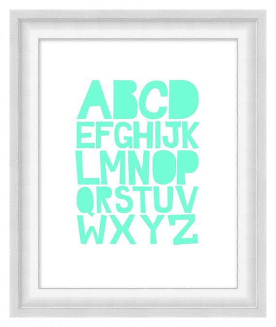 Printable Poster - ABCs Soft 'n' Sweet by BonMotPhraseology