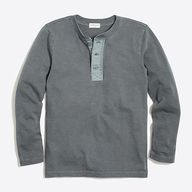 12dea685678 boys  long-sleeve garment-dyed henley   factoryboys henleys