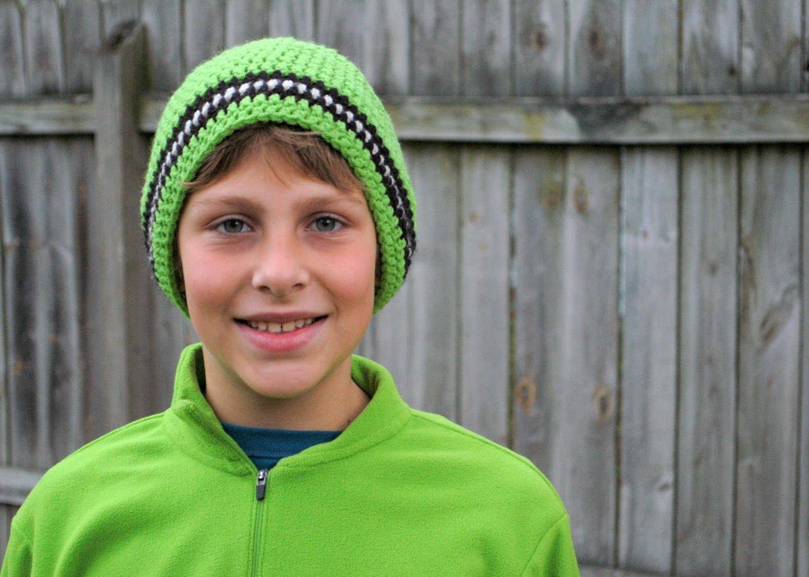 crochet boys beanie patterns | Slouchy Soccer Beanie (aka SUPER ...