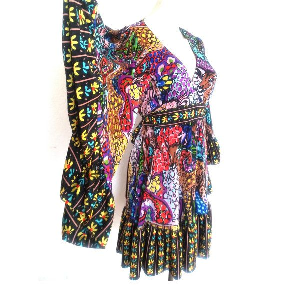 BETSEY JOHNSON Bambi jurk herten print jurk boho jurk door ShopRVF