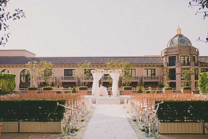 Gorgeous wedding ceremony set-up at the Montage Beverly Hills ...