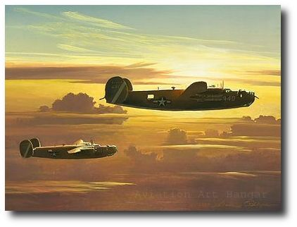 AVIATION ART HANGAR - Dawn of the Liberators by William S. Phillips (B-24)