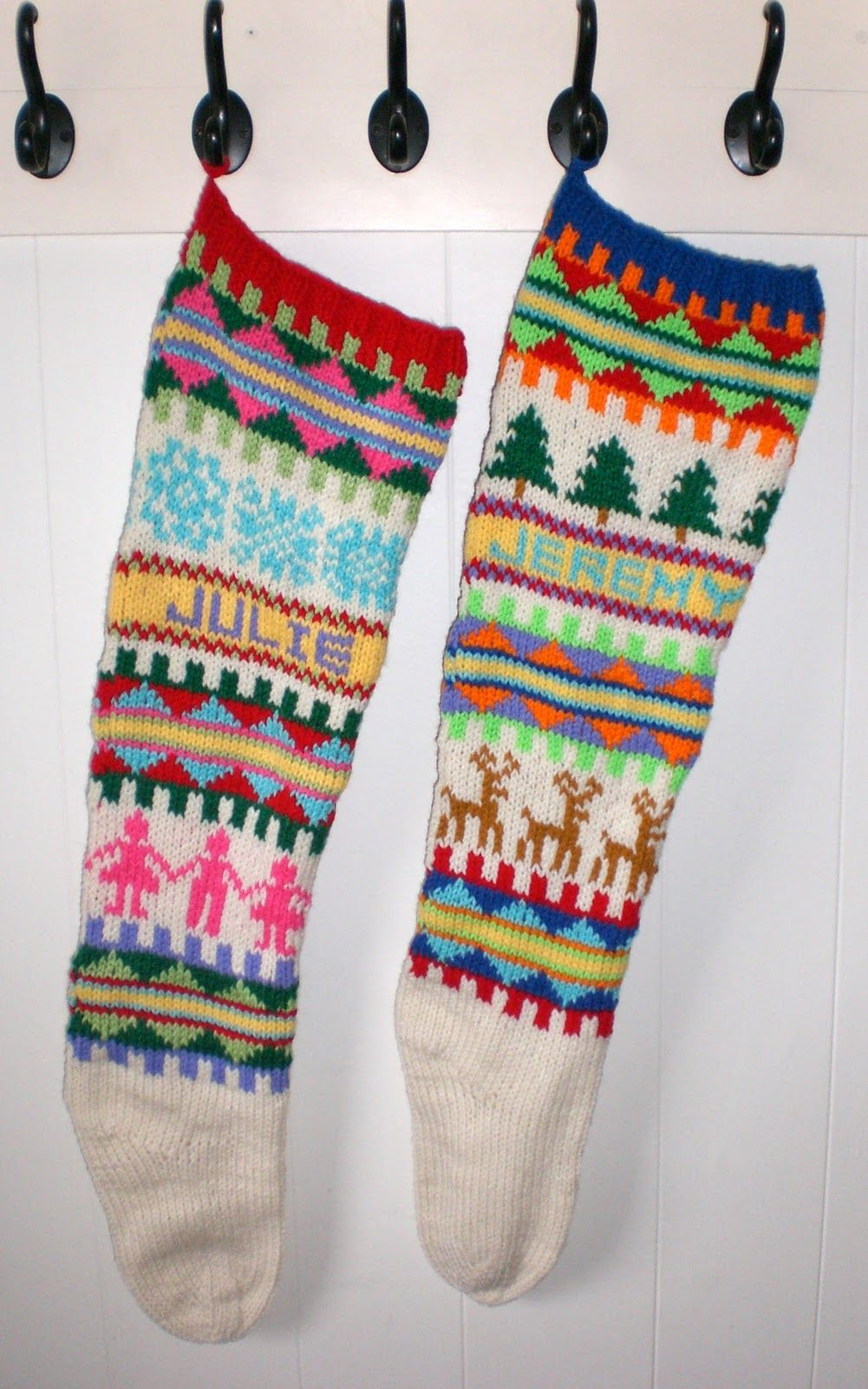 knit christmas stockings - Google Search | christmas stuff ...