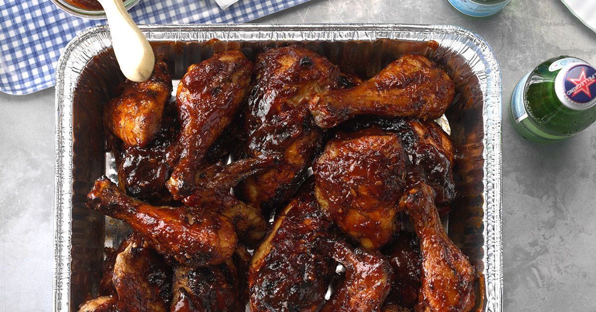 Barbecued Picnic Chicken Recipe Grilled Chicken Wings Bbq Recipes Smoked Barbecue Recipes