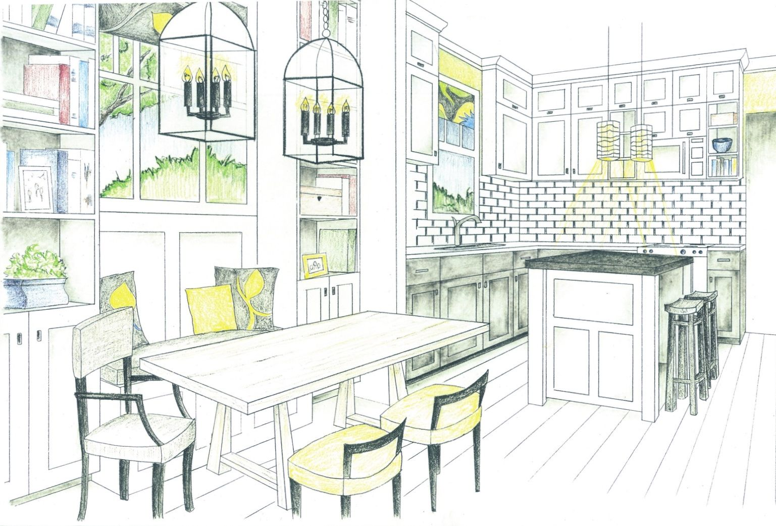 Dining room perspective drawing - Dining Table Elevation Drawing Google Search