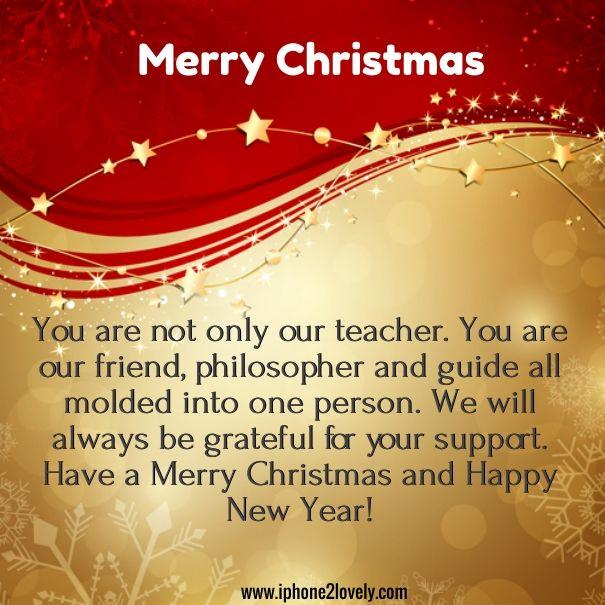 Christmas Messages For Teachers Christmas Messages Christmas Wishes Quotes Message For Teacher