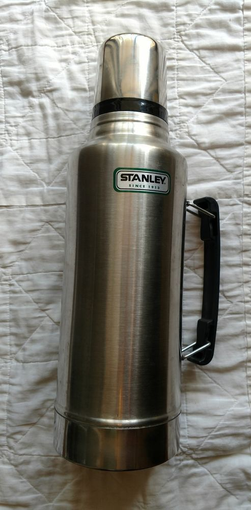 Stanley Stainless Steel Thermos Extra Large Vacuum Bottle W Handle 2 ...