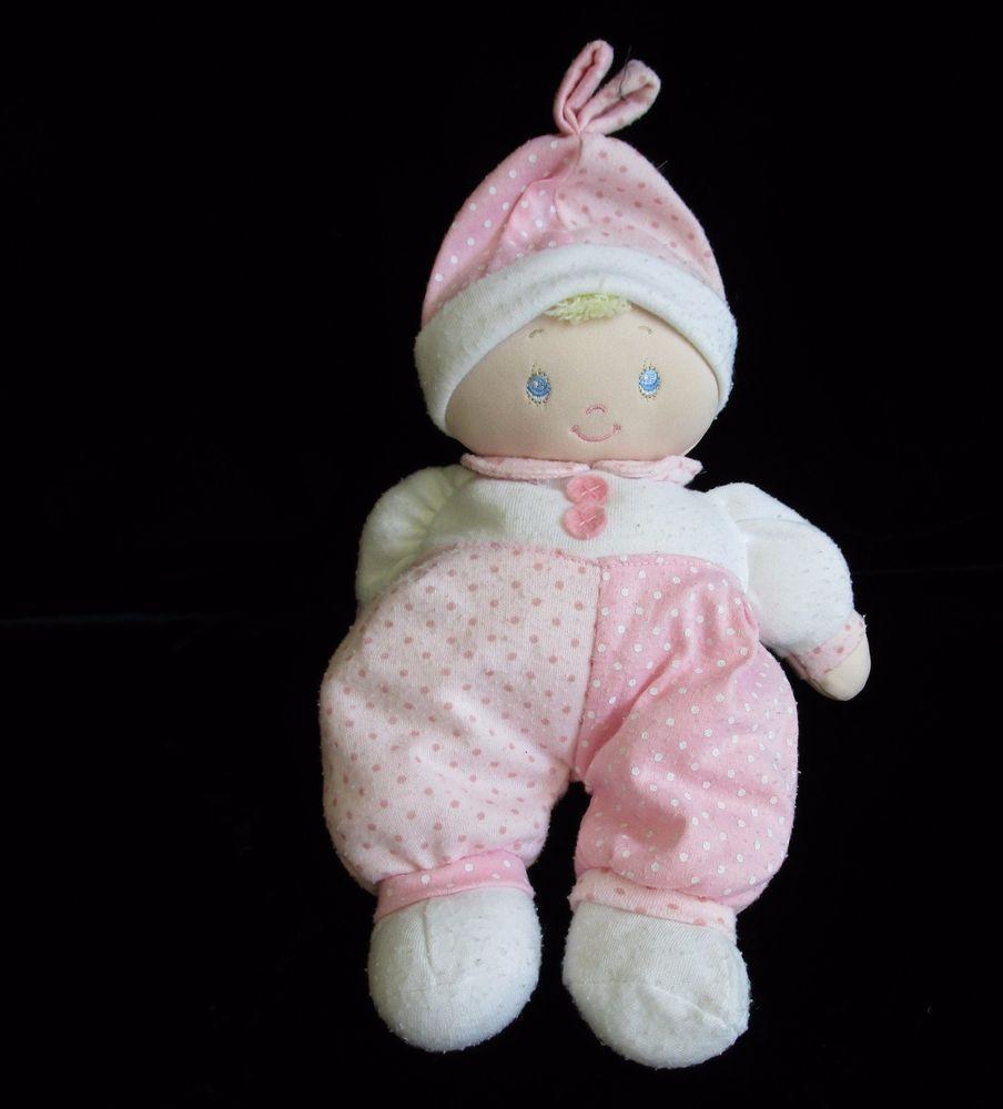 """Gund Dottie Dolly Doll Pink White Polka Dot Plush Soft Toy Stuffed 58059 12""""  #BabyGund"""