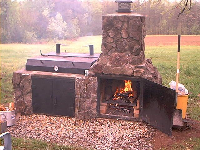I think i have to build this smoker for my backyard for for Outdoor barbecue grill designs