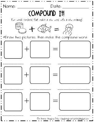 Compound Words Mega Pack Compound Words Worksheets Compound Words Making Words Kindergarten