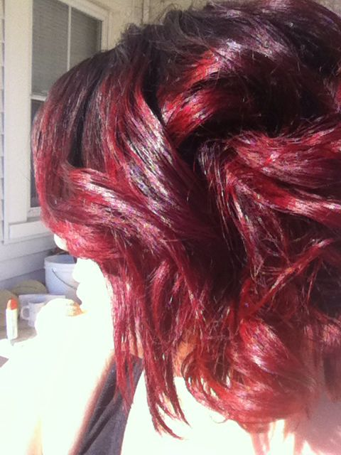 Fire red Pravana color by Jenn @Nadias Salon