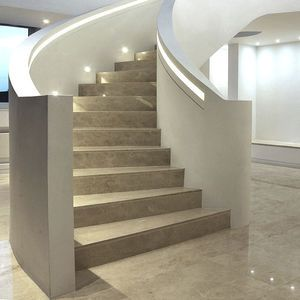 Best Helical Staircase Concrete Frame Stone Steps With 400 x 300