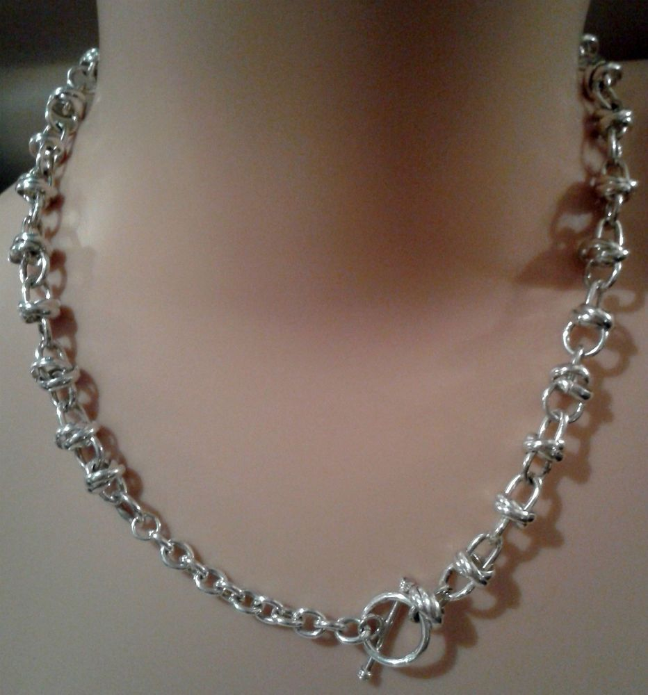 Sterling Silver Necklace With Toggle Clasp