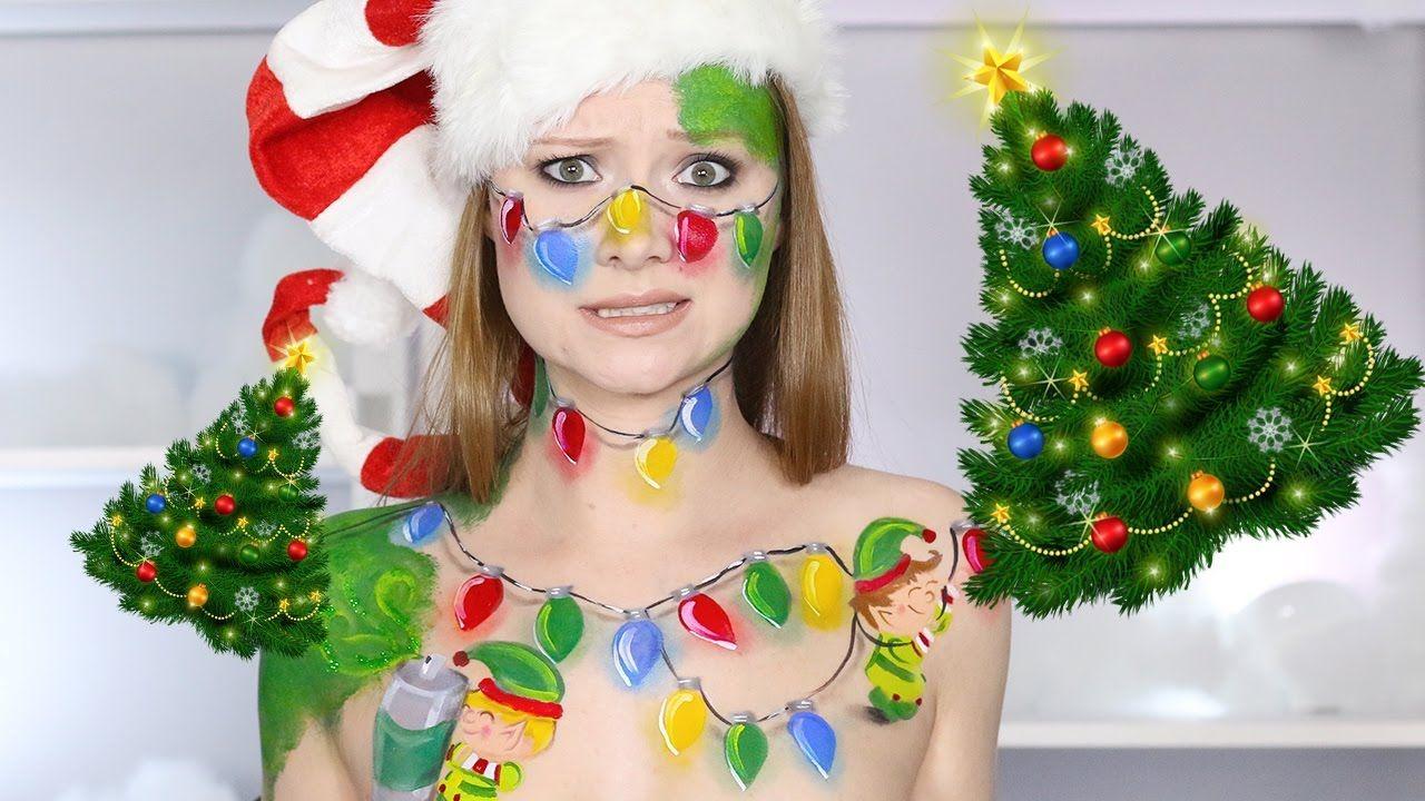 I'M NOT A CHRISTMAS TREE!? (Cute Elf Makeup Tutorial
