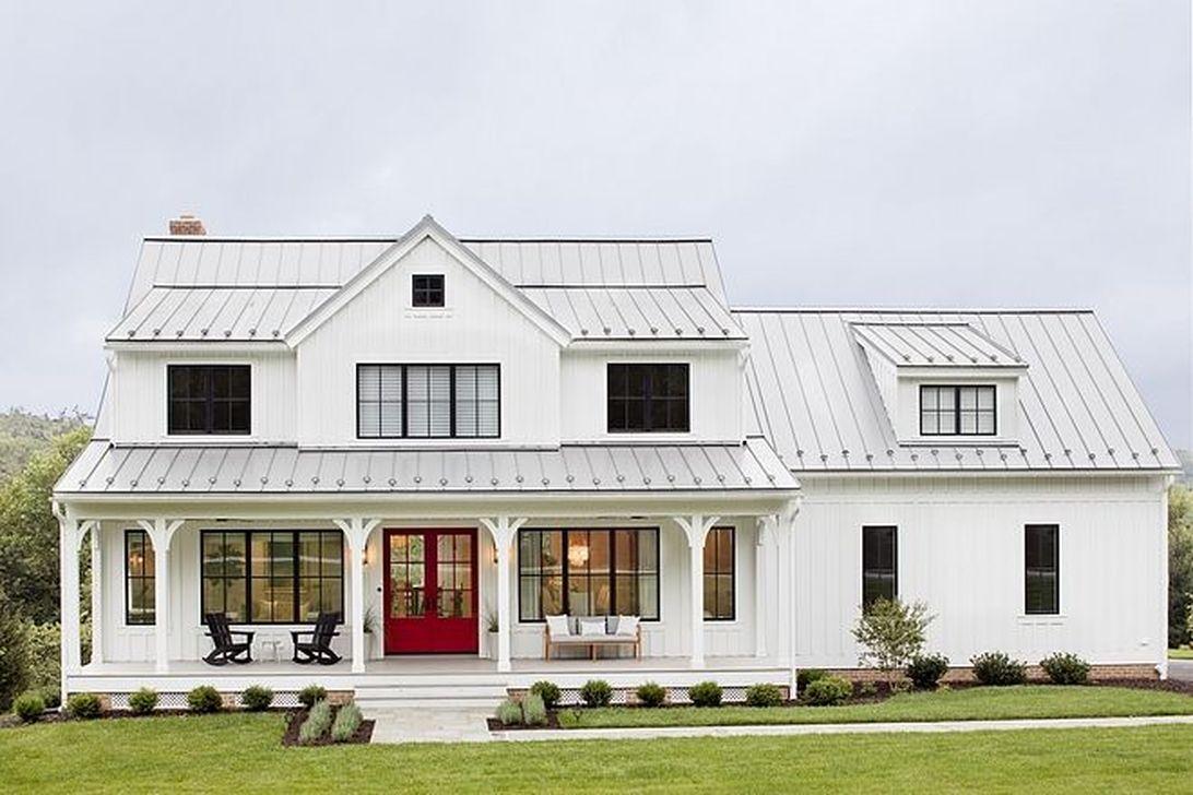 52 Inspiring Farmhouse Exterior Design Ideas For Your Home ...