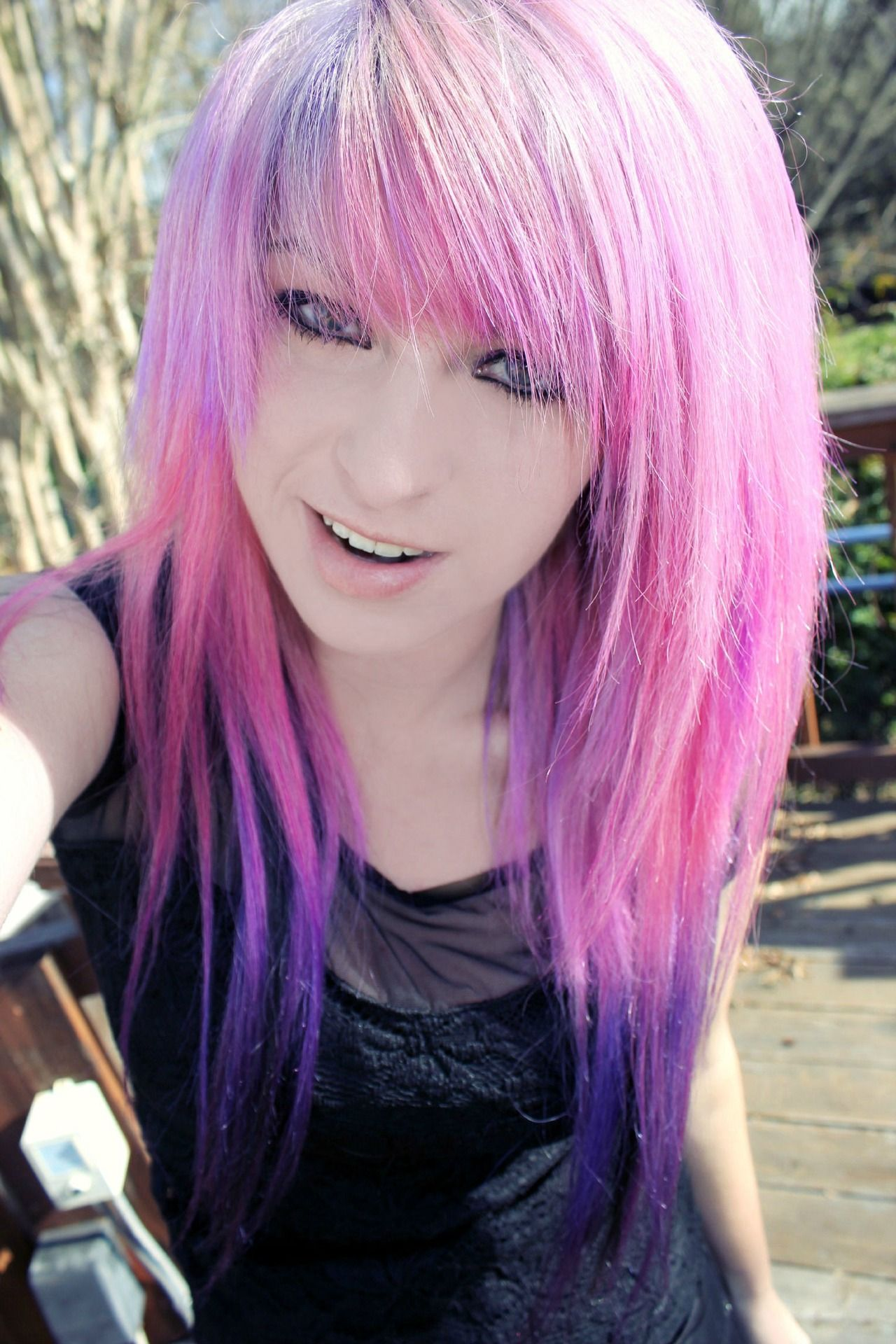 Purple dip dyed hair normal hair is stupid pinterest purple