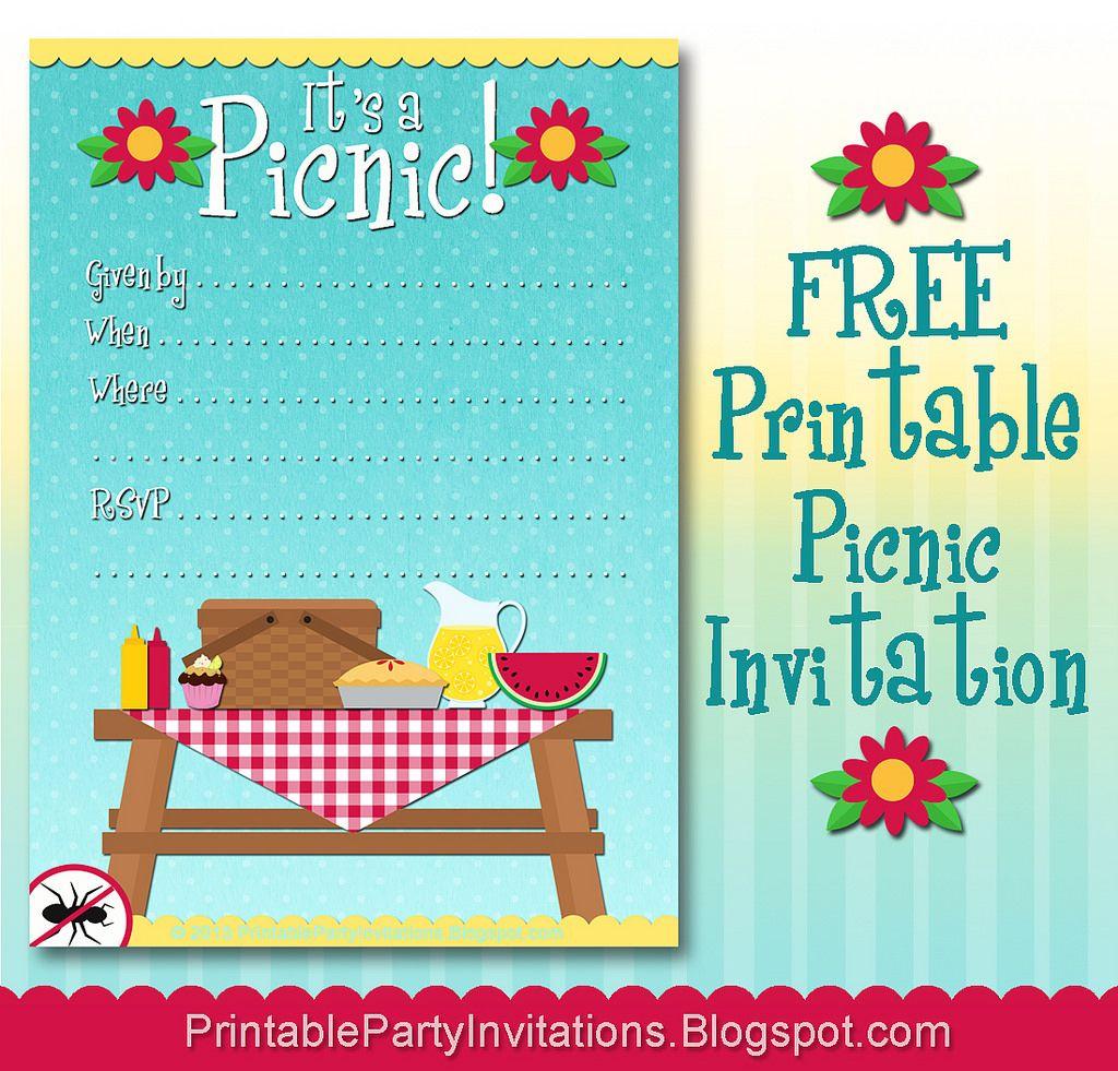 Free Printable Picnic Invitation