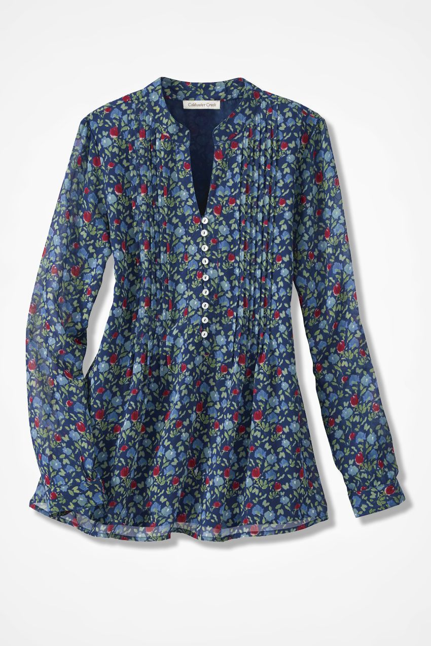 Infinite Flowers Tunic - Coldwater Creek  Fashion In 2019 -7343