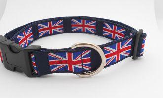 Union Jack Dog Collar 1 Wide Flag Dog Collar British Flag