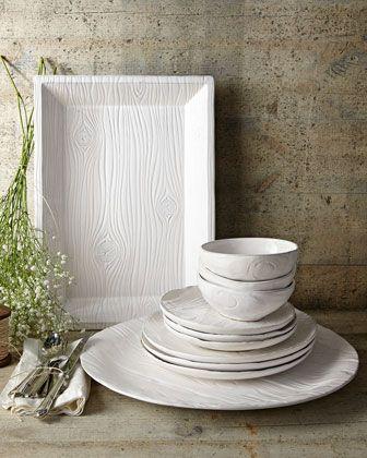 NM EXCLUSIVE 12-Piece Wood-Grain Design Dinnerware Service & NM EXCLUSIVE 12-Piece Wood-Grain Design Dinnerware Service ...