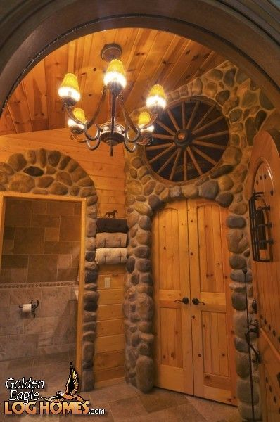 Master Bathroom   View 2 Of Golden Eagleu0027s Ponderosa | Log Home Bathrooms |  Pinterest | Master Bathrooms, Cabin And Logs