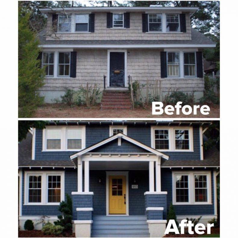 A 1920s cottage renovation before and after exterior for Exterior renovations before and after