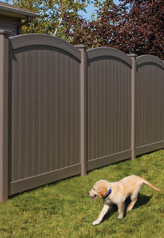 Chesterfield Certagrain With Convex Accent Vinyl Fence By Bufftech Vinyl Fence Vinyl Fence