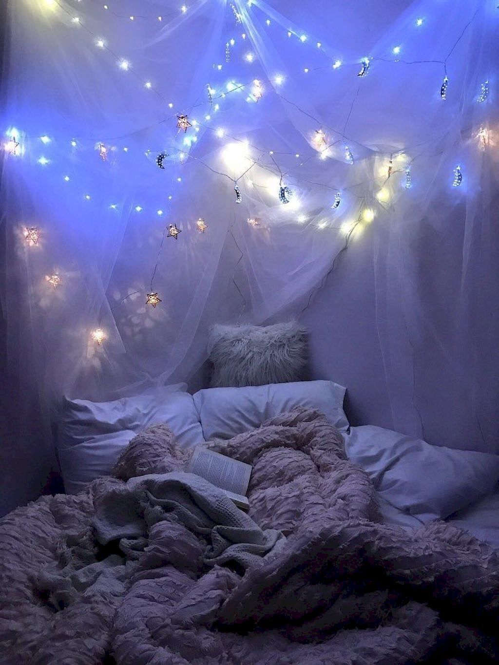 Bedroom Decoration Ideas For Romantic Moment Home To Z Fairy Lights Bedroom Room Inspiration Bedroom Bedroom Design Romantic bedroom lighting ideas