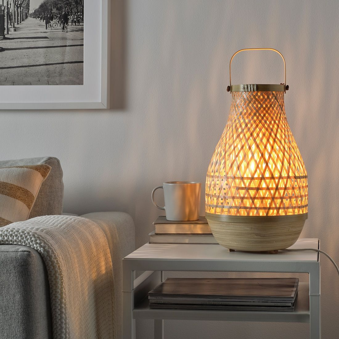 MISTERHULT Table lamp with LED bulb, bamboo IKEA in 2020
