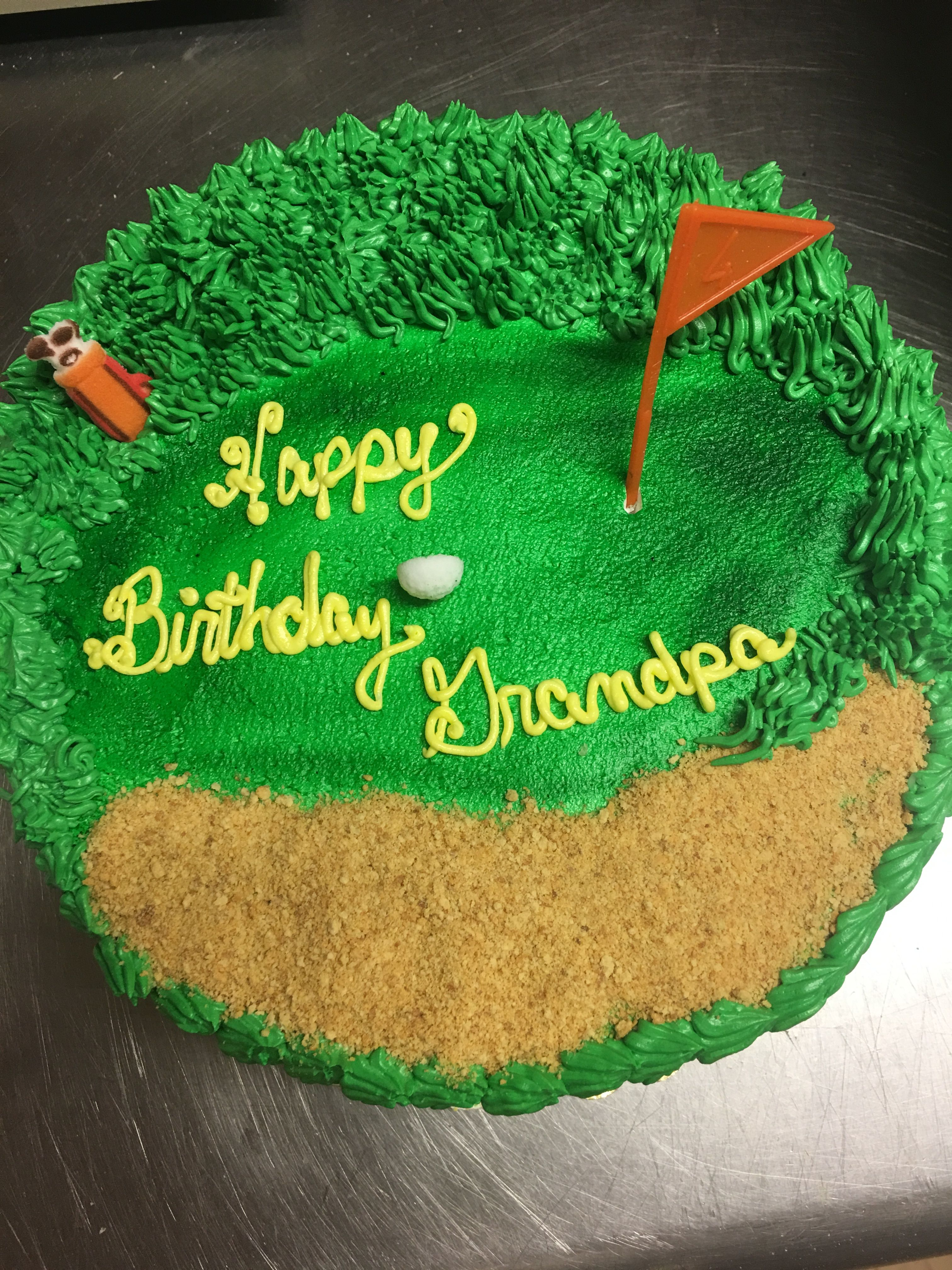 Fine Golf Scene Birthday Cake Muellers Bakery With Images Adult Funny Birthday Cards Online Drosicarndamsfinfo
