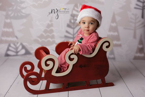 sleigh photo prop christmas photo prop newborn photo prop regular size on etsy 16000