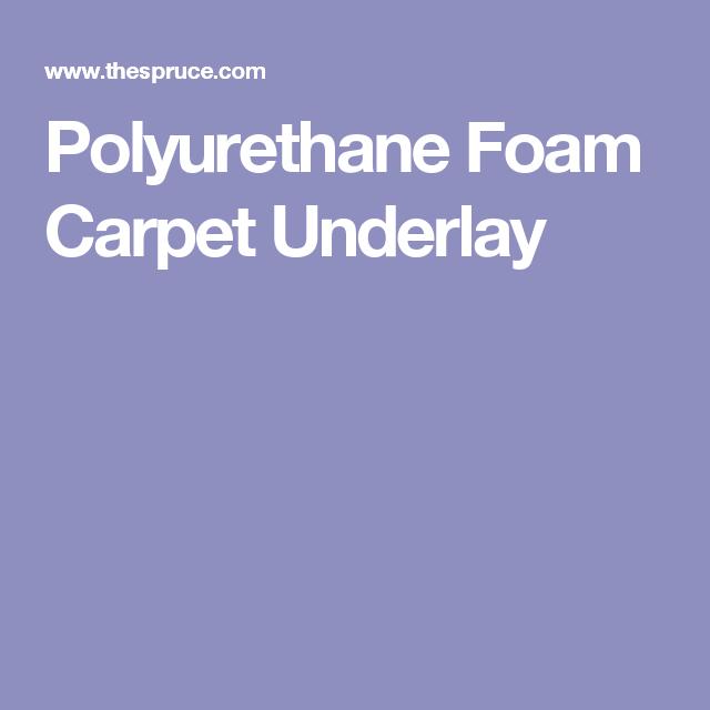 Chipfoam Rebond And Other Foam Underpads Carpet Underlay Foam Polyurethane Foam