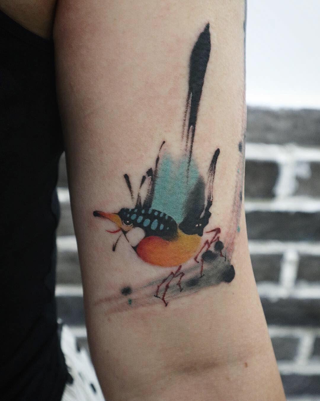Anki suen bird tattoo birds tattoo leaf tattoos tattoos