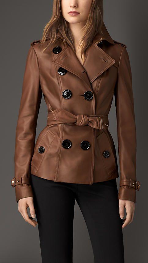burberry marrom mbar escuro jaqueta trench de couro imagem 1 guarda roupa pinterest. Black Bedroom Furniture Sets. Home Design Ideas