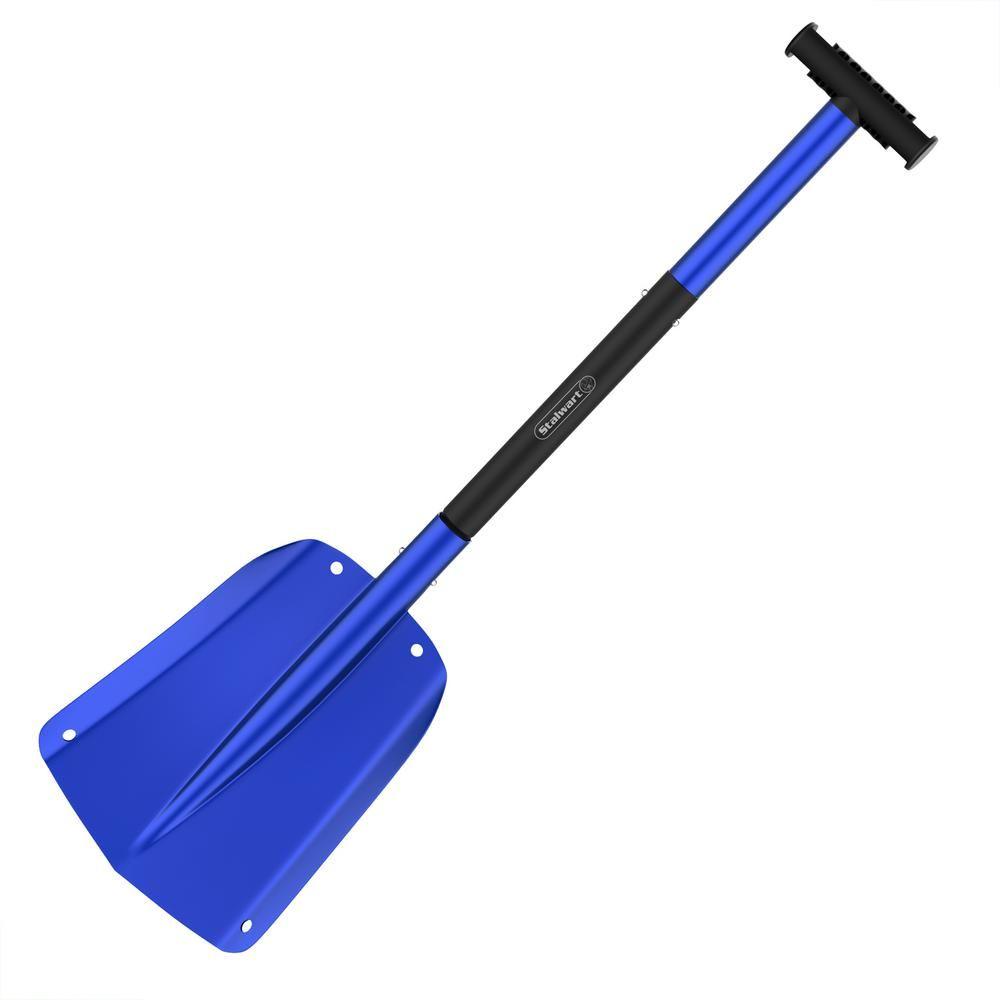 Stalwart Telescoping Snow Shovel In Blue Hw6000012 The Home Depot Snow Shovel Roadside Emergency Kit Shovel