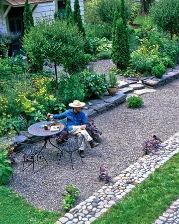 Creating My French Style Courtyard Gravel Landscaping Outdoor Gardens Backyard Landscaping