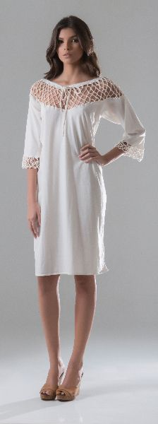 3/4 Sleeve dress — Leaves Eco Trends