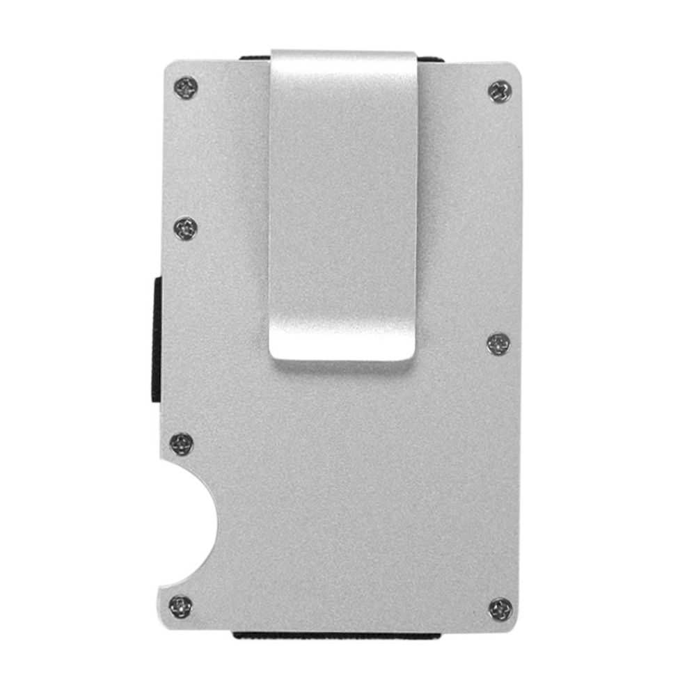 Silver Anti Degaussing Credit Card Box Automatic Bank Card Holder ...