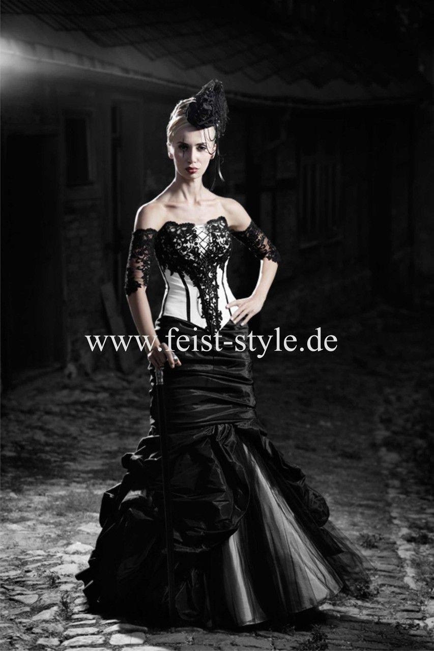 Extravagante Brautmode, schwarze Brautkleider, rote Brautkleider