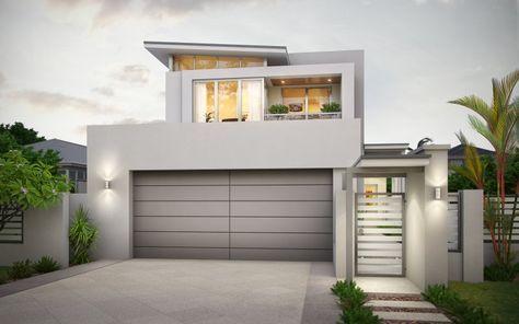 Narrow Block House Designs For Perth Narrow Lot House Plans Modern House Plans Modern House Exterior