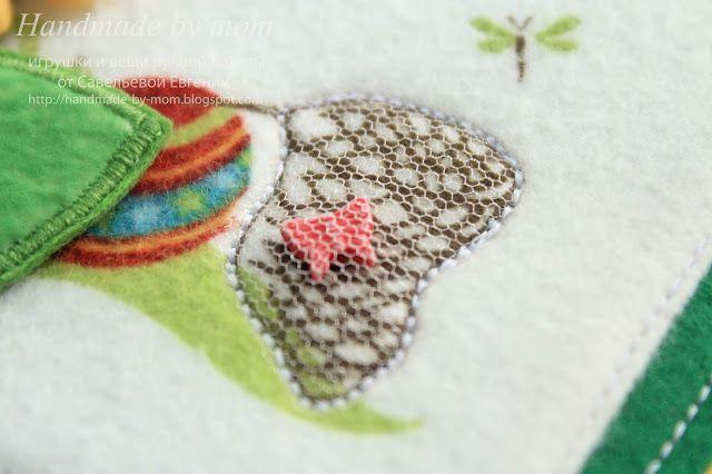 Handmade by mom: Развивающая книжка малышка №5 с заем и морковкой на обложке)