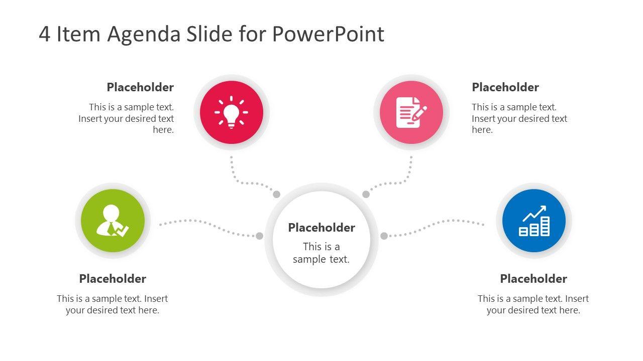 4 Item Agenda Slide Design For Powerpoint Slide Design