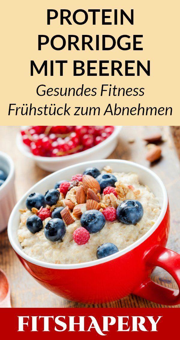 Dieses Protein Brei ist ein gesundes Fitness Frühstück, welches sich am besten ...  - Frühstück gesu...